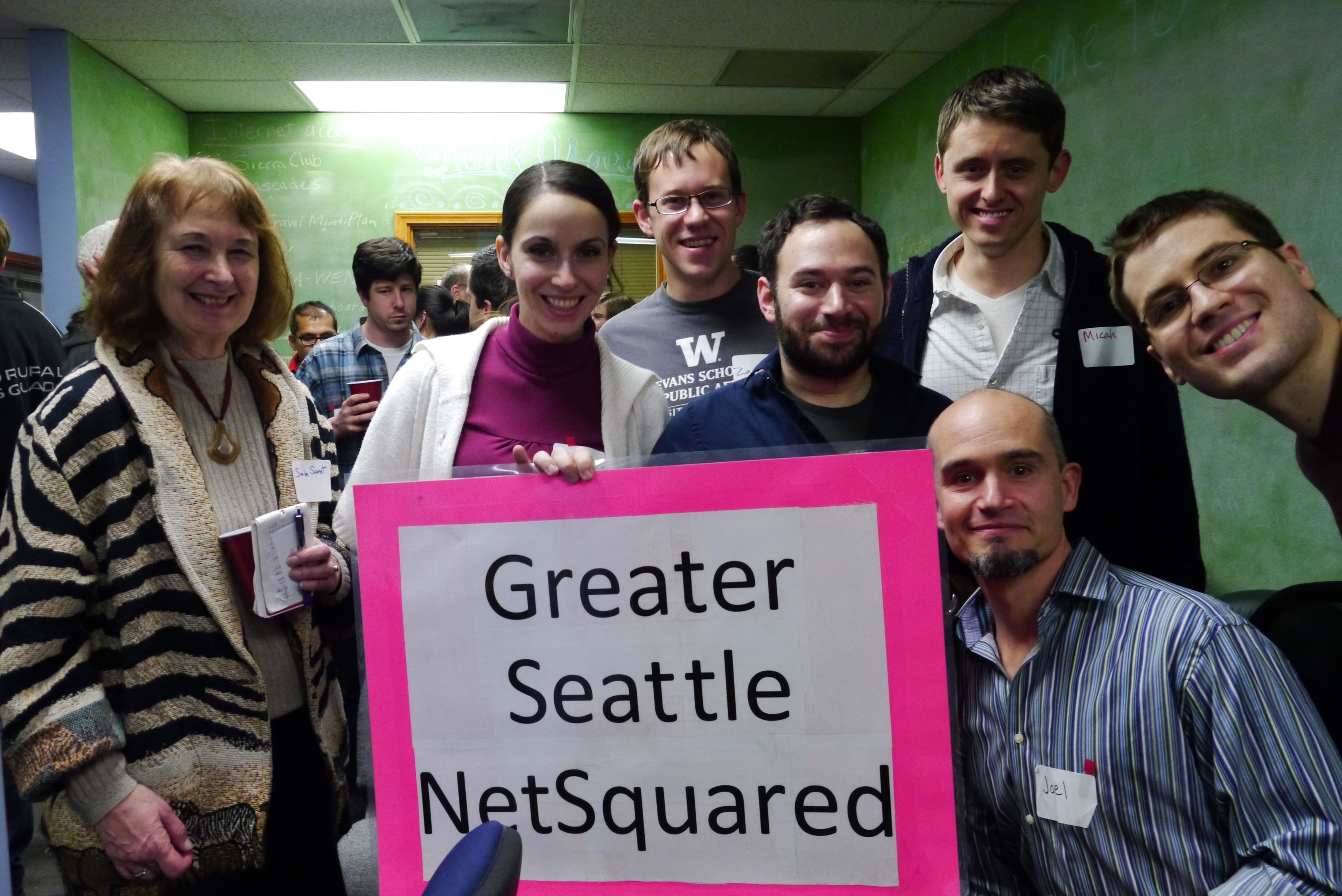 Seattle organizers with poster